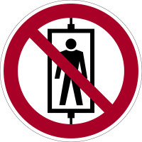 Verbotszeichen, Personenbeförderung verboten D-P013 - DIN 4844