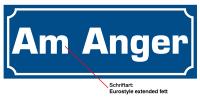 Straßenschild, Aluminium