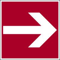 Brandschutzzeichen, Richtungspfeil gerade D-F001 - DIN 4844