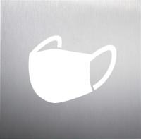 Tür-Piktogramm, Maskenpflicht, 160 x 160 mm, Edelstahl