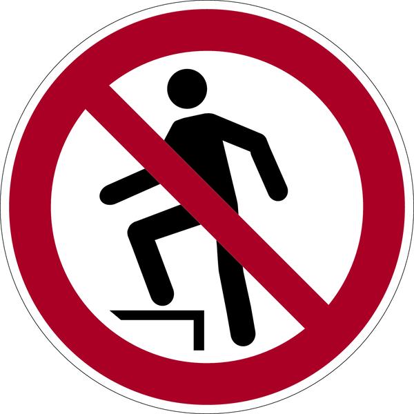 Verbotszeichen, Aufsteigen verboten P019 - ASR A1.3 (DIN EN ISO 7010)
