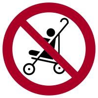 Verbotszeichen, Kinderwagen auf Rolltreppen verboten - praxisbewährt