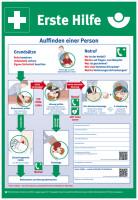 Aushang, Erste Hilfe gem. DGUV Information 204-001