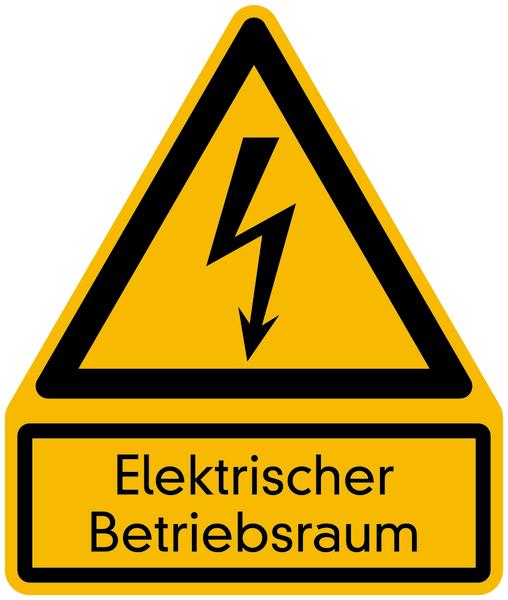 Warnzeichen Kombischild Elektrischer Betriebsraum