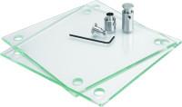 Transparente Laserdruckfolie für Schilderformat 150 x 150 mm - VE = 10 Stück
