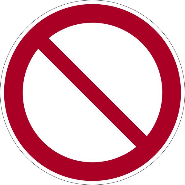 Allgemeines Verbotszeichen P001 - ASR A1.3 (DIN EN ISO 7010)