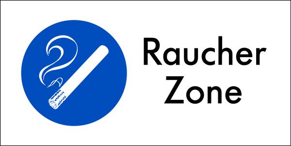 Kombischild, Raucher Zone - angelehnt an DIN 4844