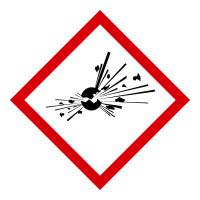 GHS Gefahrensymbol 01: Explodierende Bombe - Rolle à 500 Stück