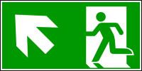 Rettungszeichen, Notausgang aufwärts links - ASR A1.3 (DIN EN ISO 7010)
