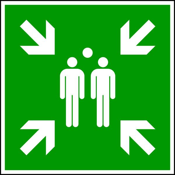 Rettungszeichen, Sammelstelle E007 - ASR A1.3 (DIN EN ISO 7010)