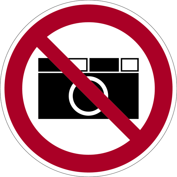 Verbotszeichen, Fotografierverbot - praxisbewährt