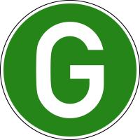 Hinweisschild, geräuscharme LKW (Deutschland), Ø220mm, Folie