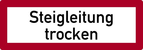 Brandschutzzeichen, Steigleitung trocken - DIN 4066