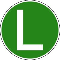 Hinweisschild, Lärmarmes Kraftfahrzeug (Österreich), Ø220mm, Folie