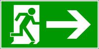 Rettungszeichen, Notausgang rechts - DIN 4844
