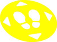 """Set: Bodenmarkierungen, """"Abstand"""", Gelb"""