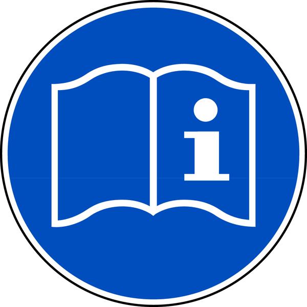 Gebotszeichen, Gebrauchsanweisung beachten D-M018 - DIN 4844