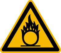 Warnzeichen, Warnung vor brandfördernden Stoffen D-W011 - DIN 4844/BGV A8