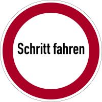 Verbotszeichen, Schritt fahren - praxisbewährt