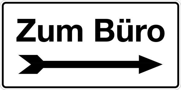 Gebäudekennzeichnung Zum Büro rechts