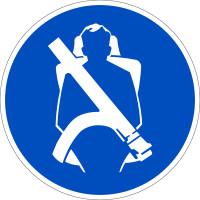 Gebotszeichen, Sicherheitsgurt benutzen - praxisbewährt