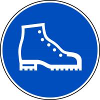 Gebotszeichen, Sicherheitsschuhe tragen - praxisbewährt