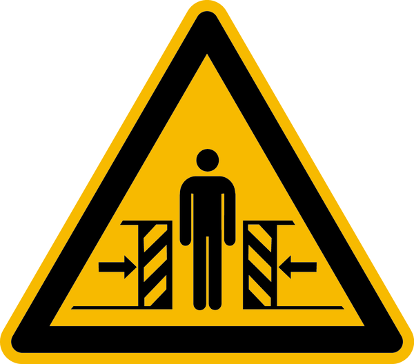 Warnzeichen, Warnung vor Quetschgefahr W019 - ASR A1.3 (DIN EN ISO 7010)