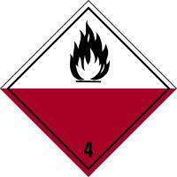 Gefahrzettel, Gefahrgutklasse 4.2 - Selbstentzündliche Stoffe