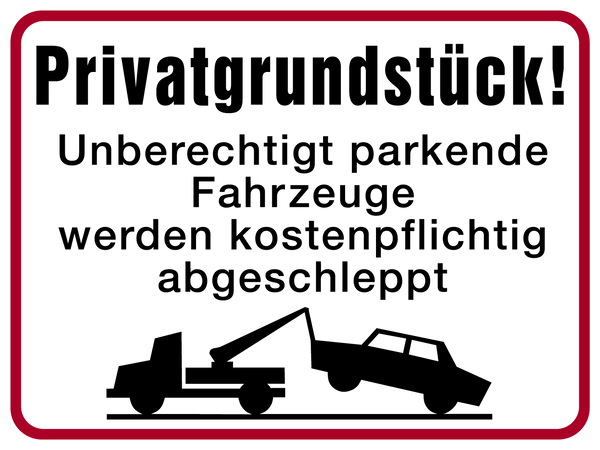Parkverbotsschilder