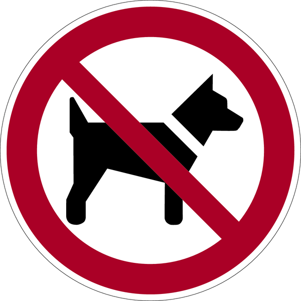 Verbotszeichen, Mitführen von Hunden (Tieren) verboten P021 - ASR A1.3 (DIN EN ISO 7010)