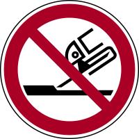 Verbotszeichen, Nicht zulässig für Seitenschleifen P032 - ASR A1.3 (DIN EN ISO 7010)