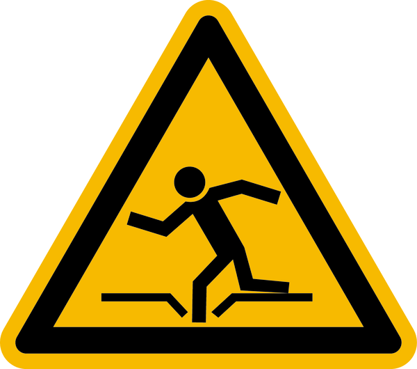 Warnzeichen Warnung vor Einsturzgefahr