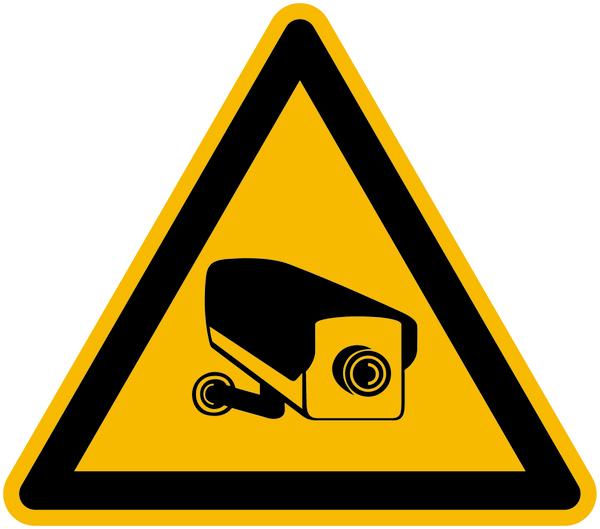 Warnzeichen Warnung vor Videoüberwachung