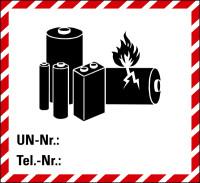 Gefahrgutaufkleber: Lithiumbatterien - ADR / Sondervorschrift 188