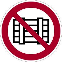 Verbotszeichen, Abstellen oder Lagern verboten D-P012 - DIN 4844