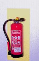 Langnachleuchtende Hinterlegungsplatte für Feuerlöscher