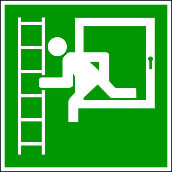 Rettungszeichen, Fluchtleiter - praxisbewährt