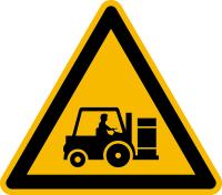 Warnzeichen Achtung! Staplerverkehr!