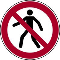 Verbotszeichen, Für Fußgänger verboten P004 - ASR A1.3 (DIN EN ISO 7010)