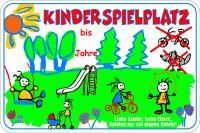 Spielplatzschild, Kinderspielplatz