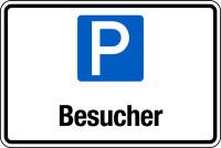 Parkplatzschild, Besucher, 200x300mm, Aluverbund