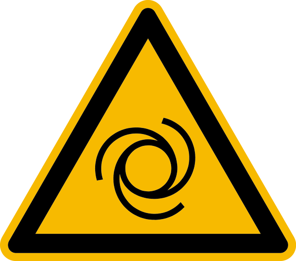 Warnzeichen, Warnung vor automatischem Anlauf W018 - ASR A1.3 (DIN EN ISO 7010)