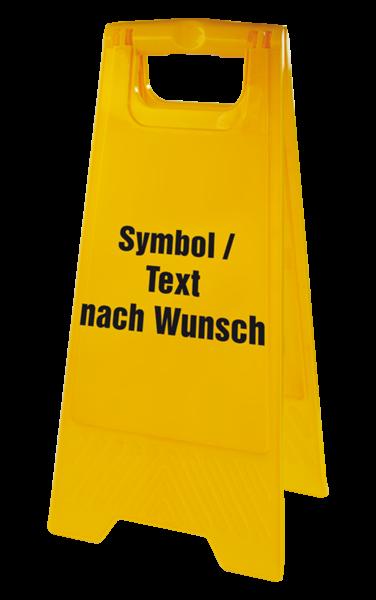 Warnaufsteller, Text nach Wunsch, 610 x 300 mm
