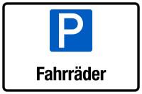 Parkplatzschild, Fahrräder, 200x300mm, Aluverbund