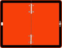 Neutrale Gefahrguttafel, 300x400mm, Aluminium