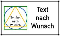 Sicherheitskennzeichen: Text und Symbol nach Wunsch