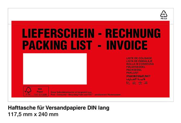 Versandtaschen - Lieferscheintaschen - Dokumententaschen