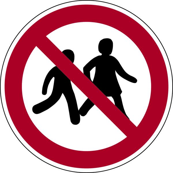 Verbotszeichen, Kinder verboten P036 - ASR A1.3 (DIN EN ISO 7010)
