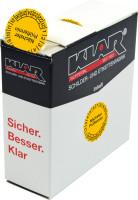 Prüfplakette, Nächster Prüftermin, Folie, Ø 30mm, gelb/schwarz - Spenderbox à 500 Stück