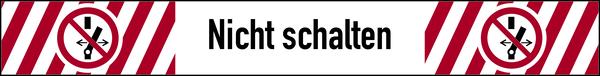 Verbotszeichen, Nicht schalten - ASR A1.3 (ISO 7010) - 1 VE = Bogen à 10 Stk.